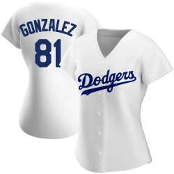 Victor Gonzalez Los Angeles Dodgers Women's Authentic Home Jersey - White