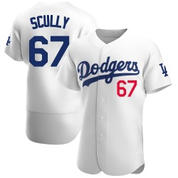 Vin Scully Los Angeles Dodgers Men's Authentic Home Official Jersey - White