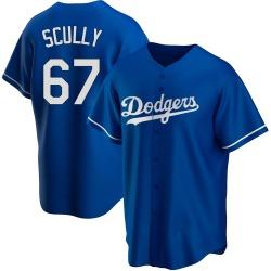 Vin Scully Los Angeles Dodgers Men's Replica Alternate Jersey - Royal