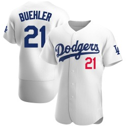 Walker Buehler Los Angeles Dodgers Men's Authentic Home Official Jersey - White