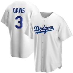 Willie Davis Los Angeles Dodgers Men's Replica Home Jersey - White