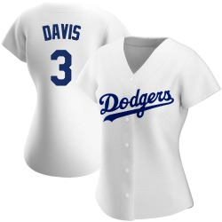 Willie Davis Los Angeles Dodgers Women's Authentic Home Jersey - White